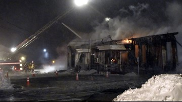 Fire Destroys Village of Barker Town Hall and Library