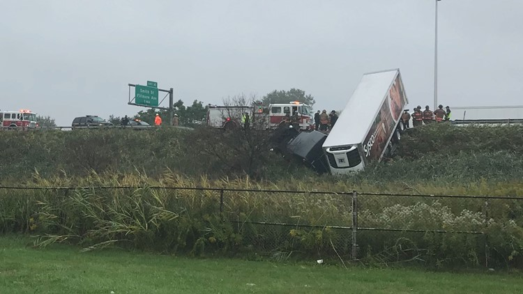 Tractor trailer accident 190