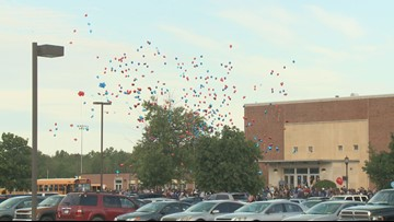 Frontier High School students honor classmate with balloon release