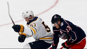 Sabres lose to Columbus in OT, 4-3