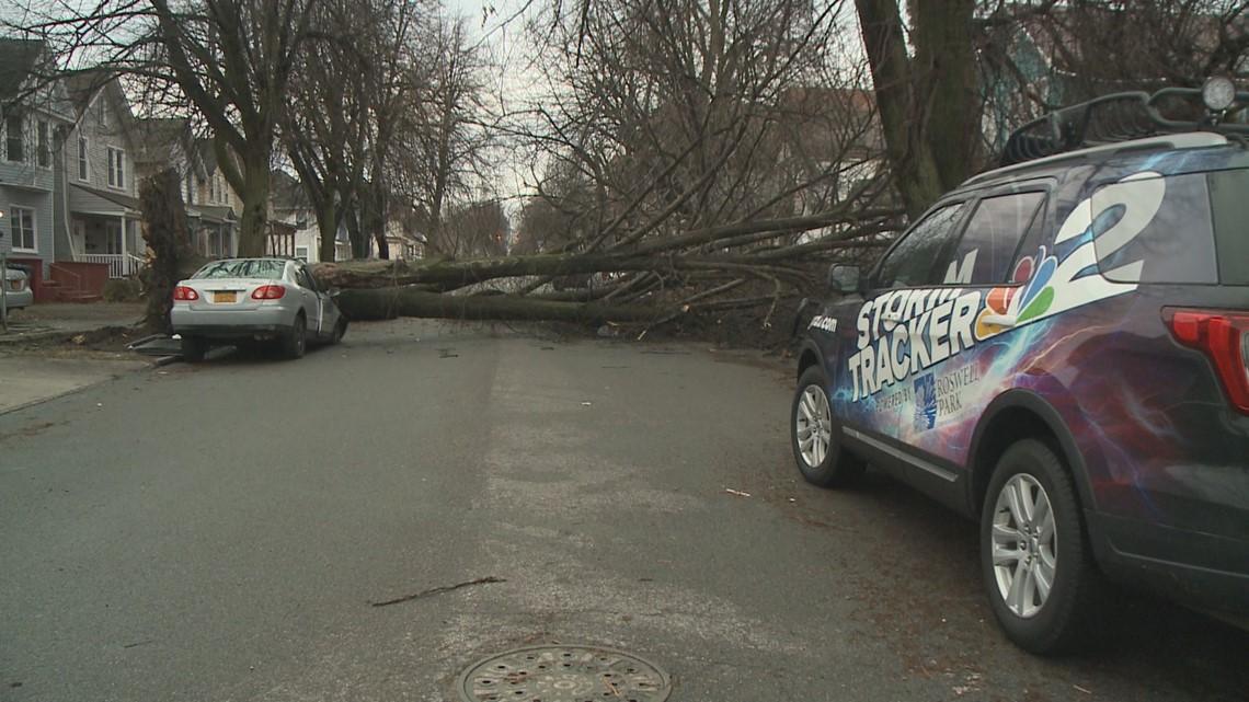 PHOTOS: Flood waters, fallen trees cause damage across Western New York