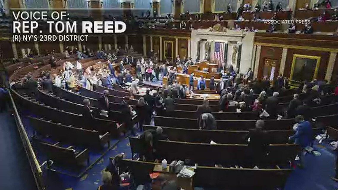 Rep. Tom Reed reacts to protests at US Capitol