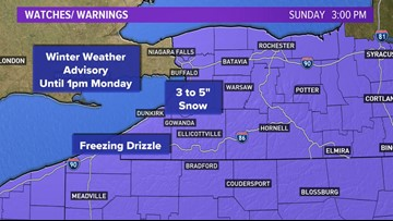 Winter Weather Advisory in effect for WNY, northern Pennsylvania
