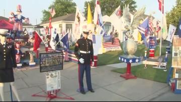 Patriotic WNY man passes impressive decorations down to grandson