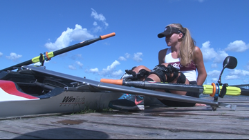 Western New York's Maddy Eberhard competing in World Rowing Championships in Austria