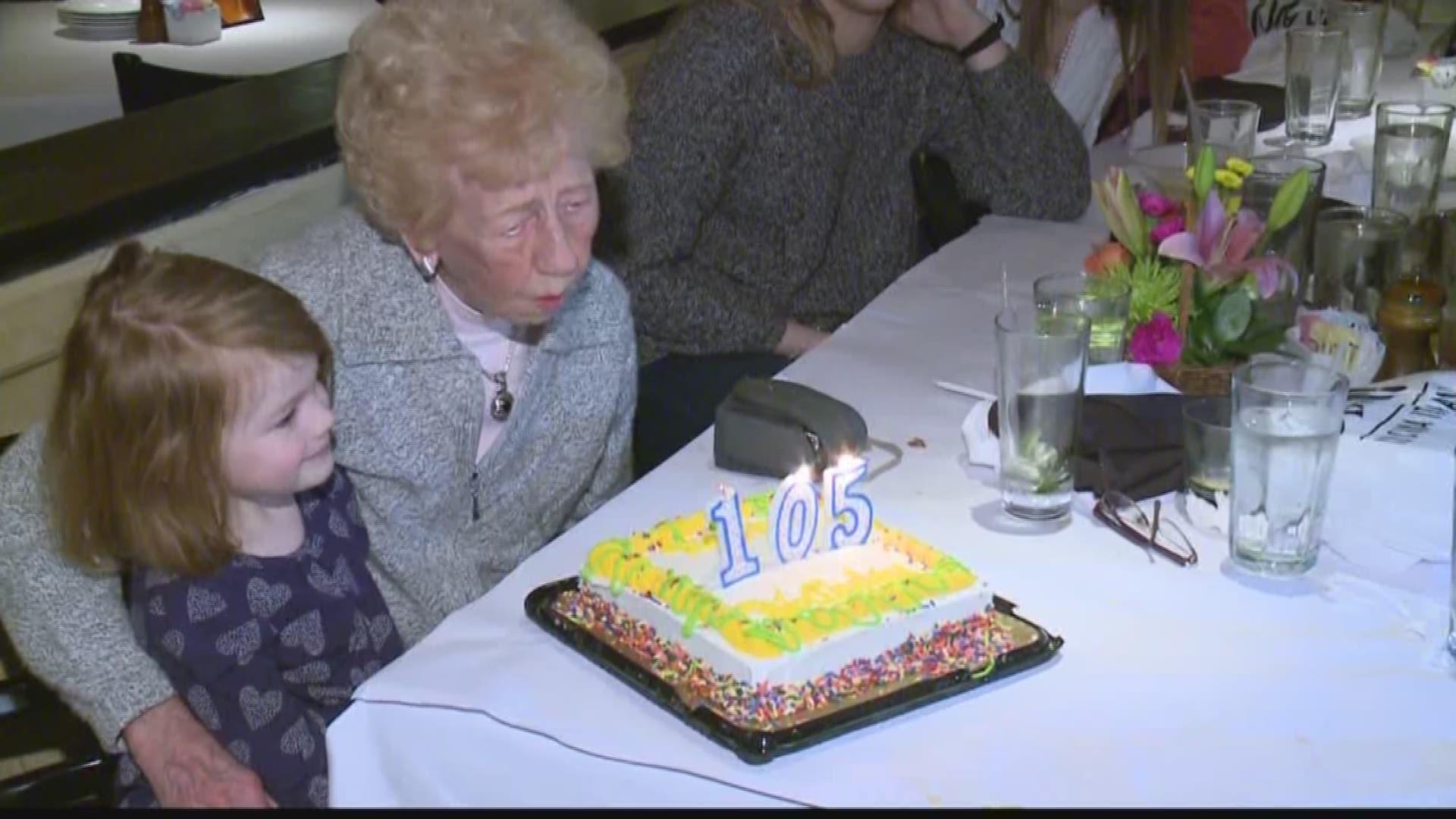 Astounding Wnyer Celebrates 105Th Birthday Wgrz Com Funny Birthday Cards Online Necthendildamsfinfo