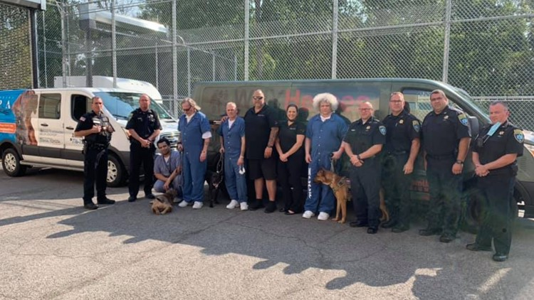 Pawsitive for Heroes service dogs training program begins at Niagara County Jail