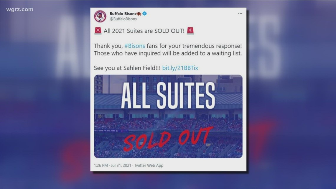 Suites at Sahlen field sold out