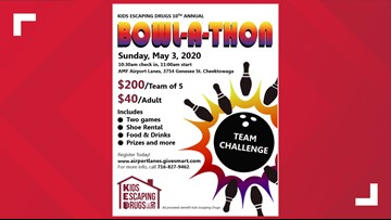Postponed - Kids Escaping Drugs 10th Annual Bowl-A-Thon