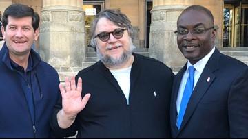 Director Guillermo del Toro meets with Buffalo's mayor