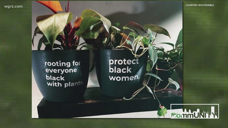 commUNITY spotlight: Rootedinblk plant pots with a message