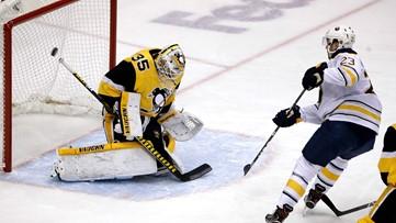 Eichel scores twice as Sabres race past sluggish Penguins