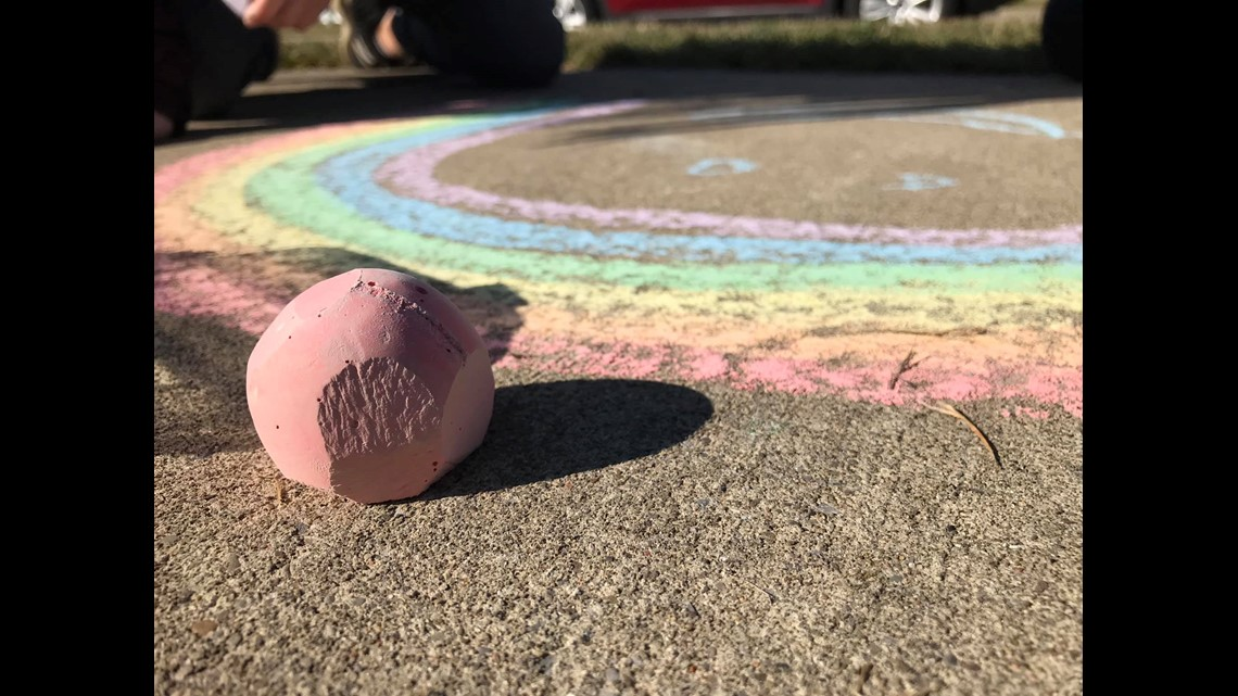 PHOTOS: Chalking up messages of hope in Lancaster