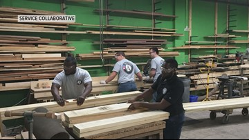Volunteers build beds by hand for children living in poverty