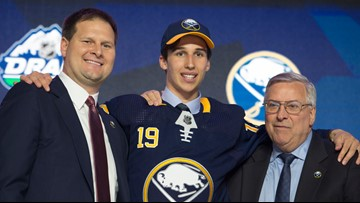 Sabres top pick Dylan Cozens undergoes thumb surgery, 2-3 months recovery time expected