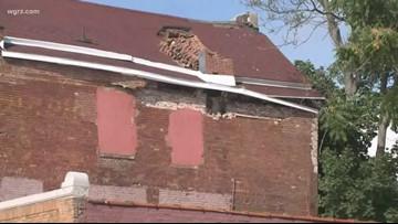 Chimney Collapse On Ellicott Street