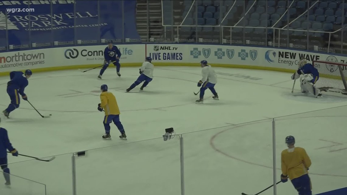 Sabres happy to get back on the ice