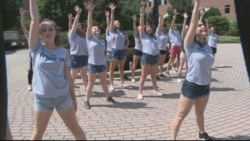 Flash mob performs Mamma Mia outside Roswell Park