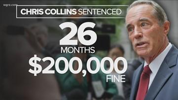 Former U.S. Congressman Chris Collins sentenced to 26 months in prison