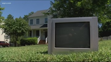 Mysterious character delivers old TVs in Virginia town