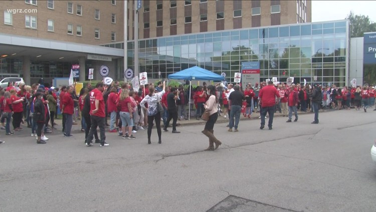CWA strike continues at Mercy Hospital