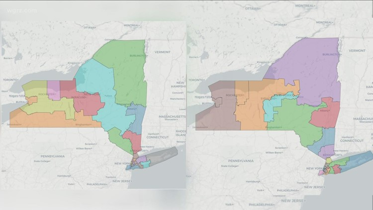 2 maps for potential U.S. congressional districts in New York revealed