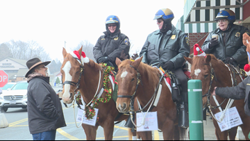 Erie County Sheriff's Office Mounted for Meals Food Drive