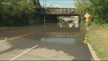 Storms Leave Flooding Around WNY Roads