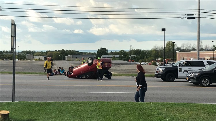 Rollover accident on Southwestern