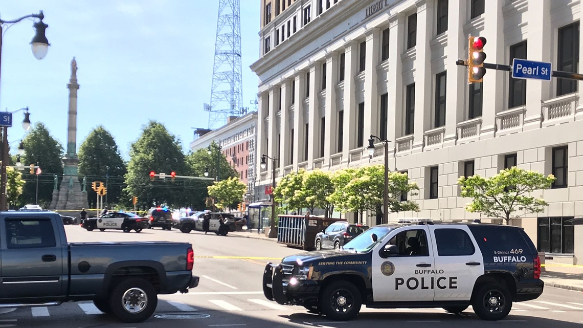 police  man dead after jumping from downtown buffalo building