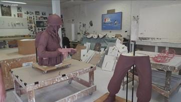 DeGlopper sculpture in Colorado for casting