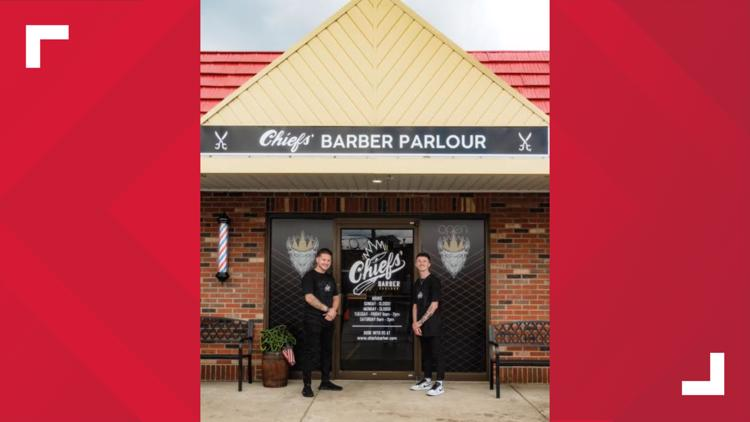 Bills barber celebrates opening of Chiefs Barber Parlour