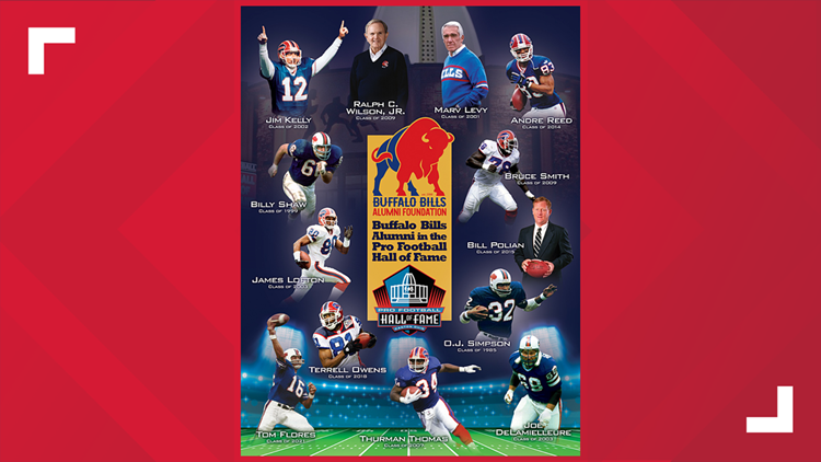 Buffalo Bills Alumni Foundation unveils Pro Football Hall of Fame poster