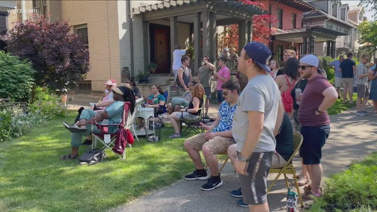 Folks in Buffalo starting to sense air of normalcy at Elmwood Porchfest
