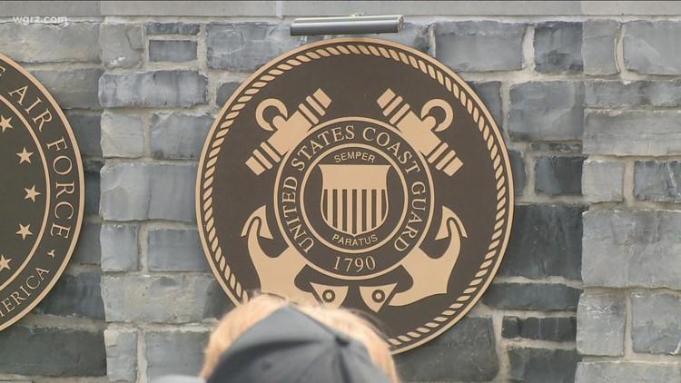 Veterans memorial wall in Amherst revealed