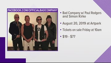 Bad Company Coming To Artpark In August