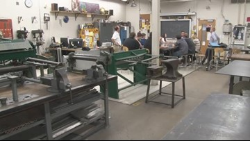 WEB EXTRA: Behind the scenes of Alden High School's Bulldog Manufacturing