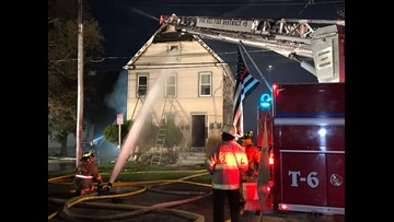 Fire departments rush to fight massive blaze in Cheektowaga