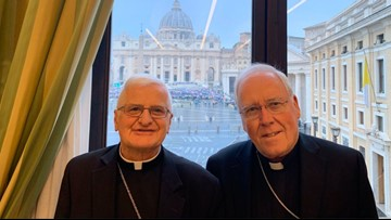 Bishop Malone wraps up Vatican visit without resignation announcement
