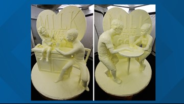 Butter sculpture unveiled as NY state fair begins