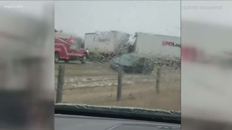 Multiple-vehicle crash shuts down I-90 in Pennsylvania