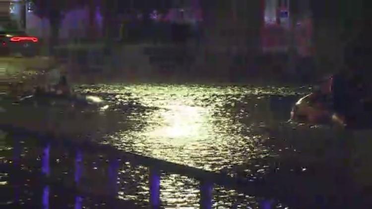 WATCH: Buffalo Firefighters rescue woman from flood waters