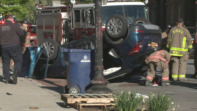 Rollover Crash Closed Section Of Allen Street