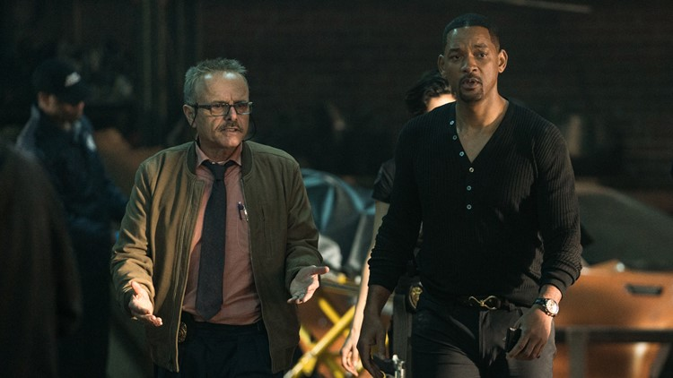 Mike Lowrey (WILL SMITH) and Capt Howard (JOE PANTOLIANO) walk the aftermath of their raid in Columbia Pictures' BAD BOYS FOR LIFE.