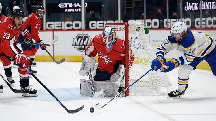 Sabres' offensive struggles continue in Washington