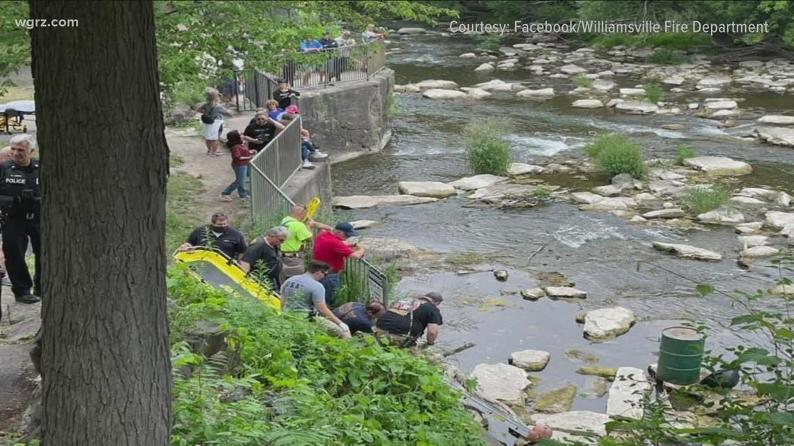 Man rescued from Glen Falls waterfall