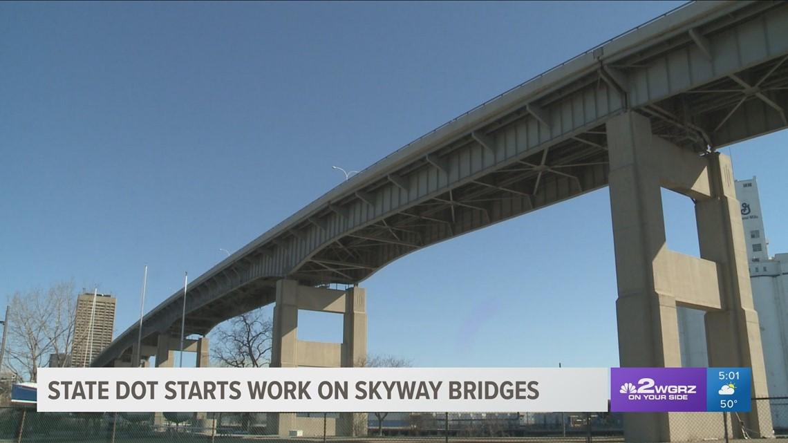 skyway bridge work begins monday