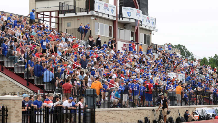 Kim Pegula says the Buffalo Bills will continue their agreement with St. John Fisher to host Bills' training camp.