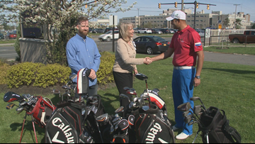 Bunkers in Baghdad donates Golf Clubs for Veterans