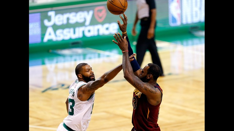 The Boston Celtics beat Cleveland Tuesday night 107-94 to take a commanding two games to none lead in their Eastern Conference final series..